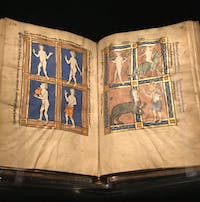 The Monstrous People, a book published after 1277, is on exhibit at the Paul Getty Museum in Los Angeles. Photo Courtesy of J. Paul Getty Museum in Los Angeles