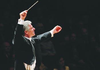 Courtesy of North Carolina Symphony Music Director Grant Llewellyn conducts the North Carolina Symphony.