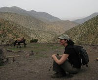 Pam Jagger conducts field work in Morocco. Photo courtesy of Pam Jagger.