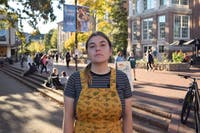 """Iris Maxfield, a junior political science major, is one of the many international students who could be impacted by Trump's Immigration Services policy. """"I don't think it's going to pressure people a lot — I think it's more symbolic,"""" she said. """"I think it's going to make it tougher because it shows symbolically that we're not welcome."""""""
