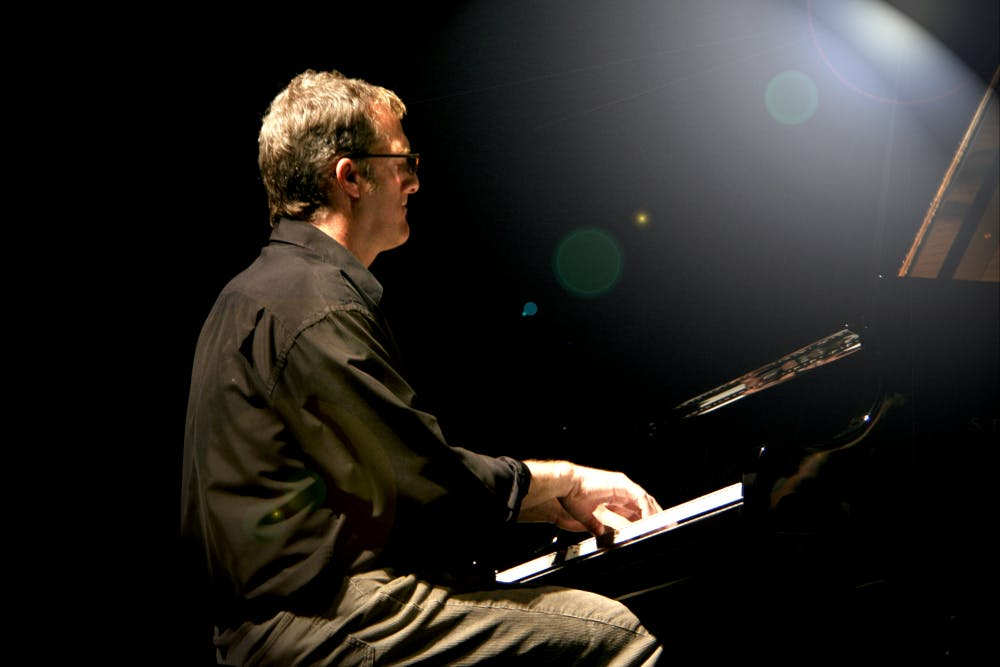 <p>Stephen Anderson, Jazz professor at UNC, plays the piano for the Faculty Jazz Trio. Photo taken by Steven Bromberg and courtesy of Stephen Anderson.</p>