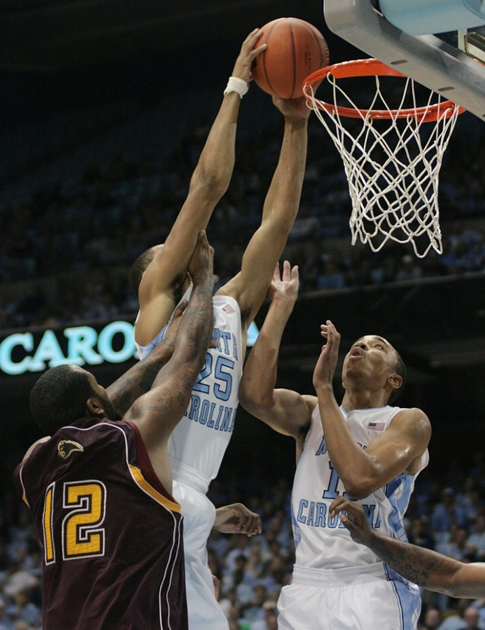 UNC wins exhibition game against Shaw easily