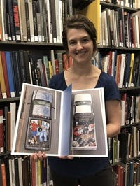 Alice Whiteside, head of the Sloane Art Library, was part of the pop-up rare books exhibit in Oct. of 2018.