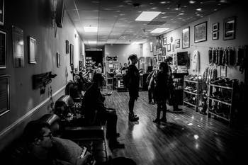 Attendees at the first Dead Souls Gothic Lounge at Special Treats on Sept. 15, 2019. Photo courtesy of Natalie Vilches.