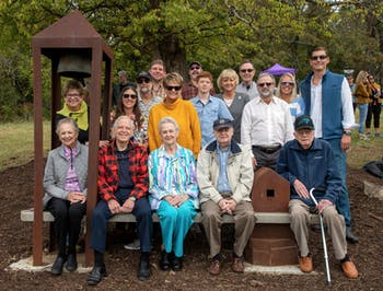 The Merritt Art Bench Dedication on Friday, Oct. 25, 2019. Photo courtesy of Town of Chapel Hill.