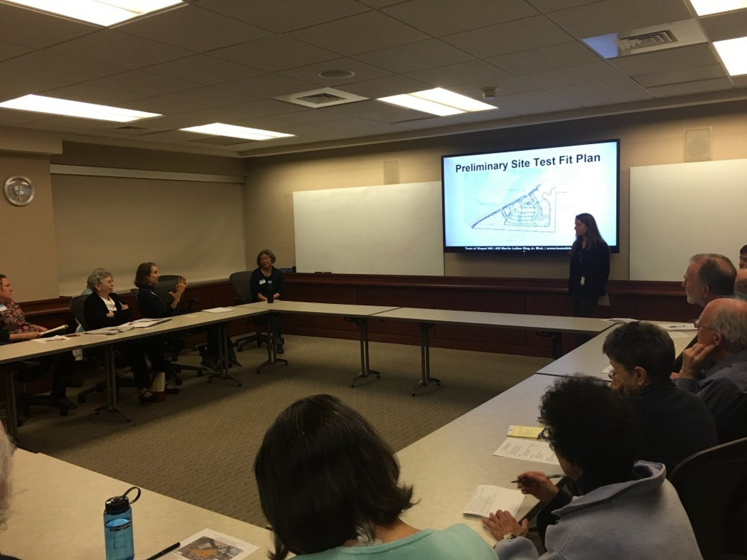 The town of Chapel Hill and the university held a joint meeting to discuss a possible new development.