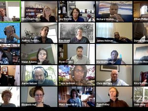 Screenshot from the Campus & Community Advisory Committee held over Zoom on Tuesday, Oct. 20, 2020.