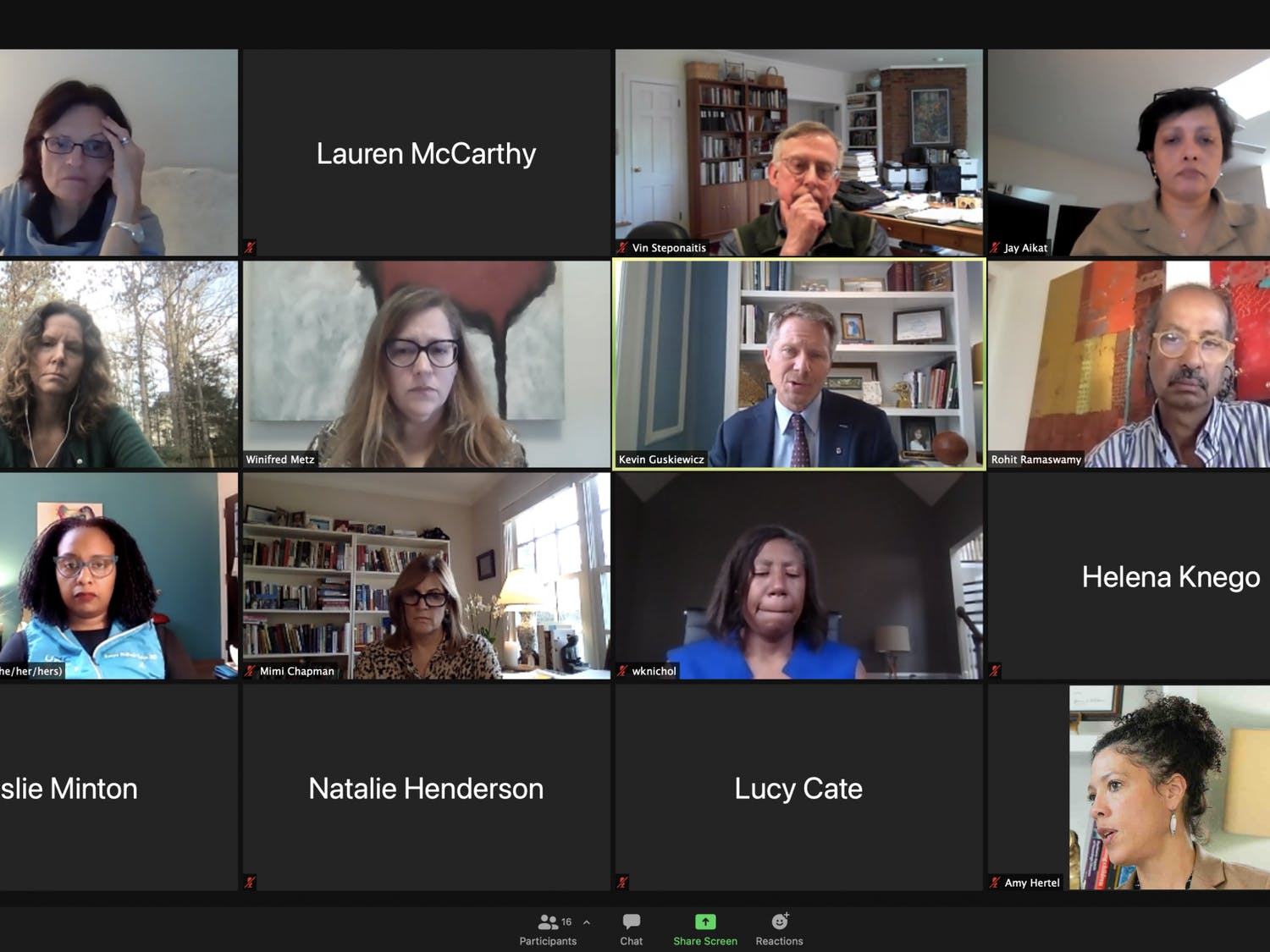 The Advisory Committee meet virtually on Thursday, Jan. 21, 2021 to discuss spring COVID-19 testing.