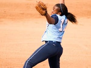 """Freshman Constance Orr pitched seven innings during UNC?s upset of California on Saturday"""" holding the Golden Bears to just three runs."""