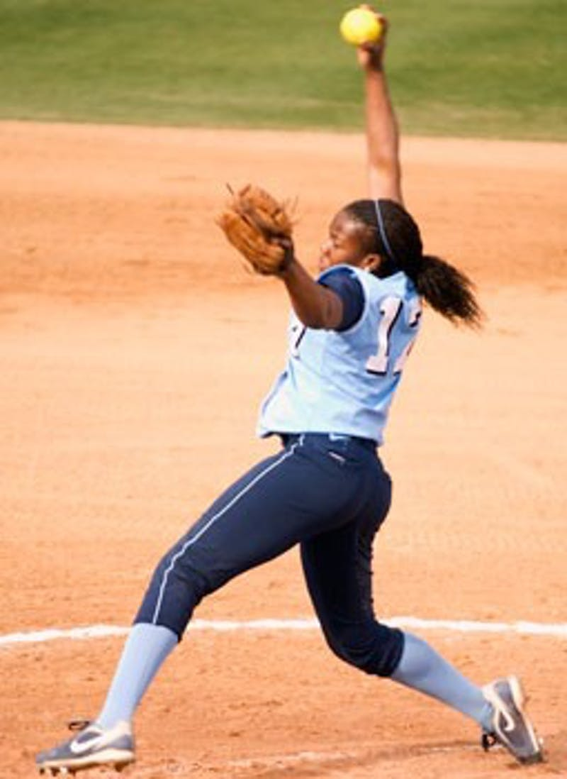 "Freshman Constance Orr pitched seven innings during UNC?s upset of California on Saturday"" holding the Golden Bears to just three runs."