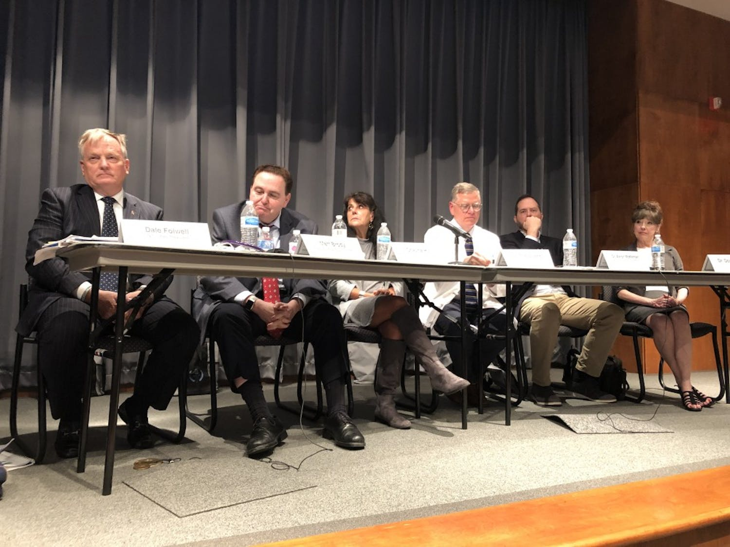 Panelists at the UNC Campus Community Forum discussed the N.C. State Health Care Plan on Monday.