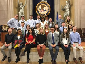 Members of the UNC Honors Seminar on Public Policy and Global Affairs visit the Department of Justice. Contributed by Sean Nguyen.