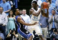 Harrison Barnes (40) played two seasons at UNC. He averaged 16.3 points in his UNC career and was drafted seventh overall by the Warriors in 2012.
