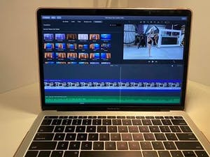 Incoming UNC first-year Riley Welch edits her Carolina Girls audition video, but now it's unclear if students will be on campus in the fall. Photo courtesy of Riley Welch.