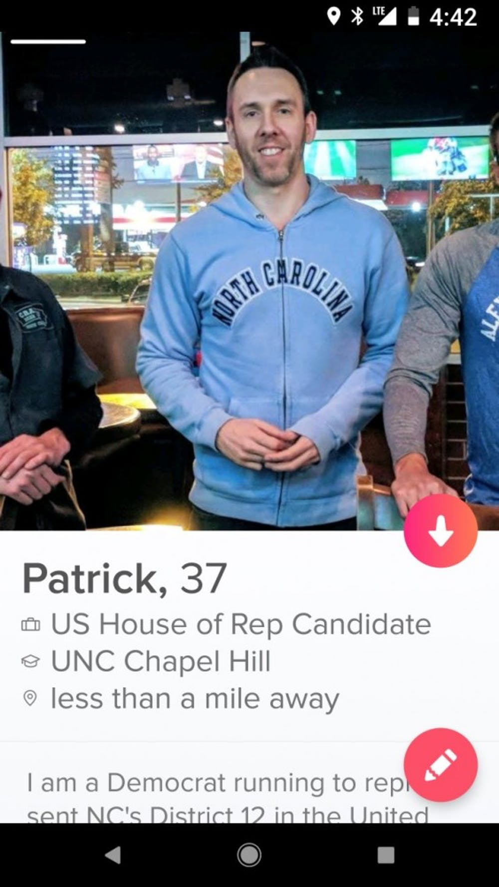 Swiping right on your...representative? Here's one UNC alum's unusual take on voter outreach