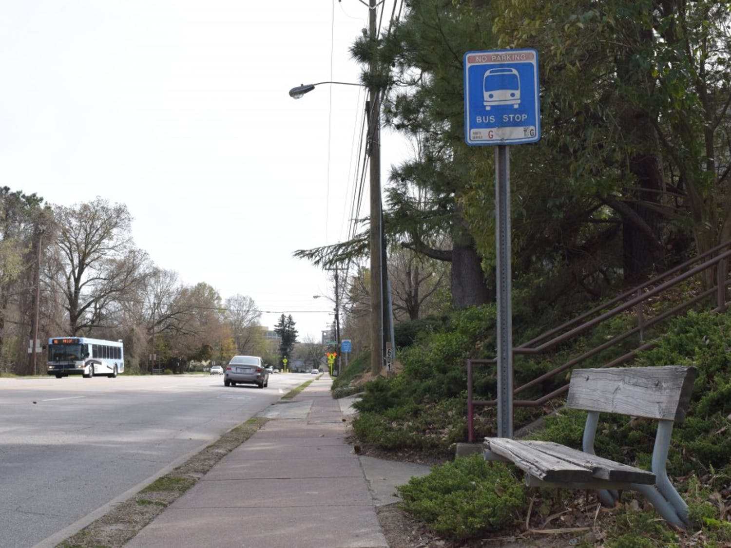 The stop at MLK Blvd at Adelaide Water Apartments is one of the nine bus stops currently being review to comply with the Americans with Disabilities Act (ADA) 1990.