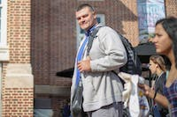 """Vasco Evtimov, 41, is set to graduate in May with a communications degree. """"It's really interesting learning about different ideas and how to set up young individuals coming out of college, what to expect when they get a job,"""" he said his major. """"Really prepares you for it. And it's really interesting for me."""""""