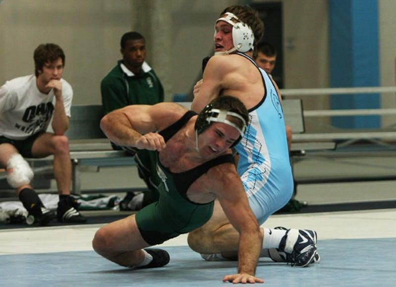 Senior Dennis Drury has anchored North Carolina's lineup at the 197-pound weight class. DTH File