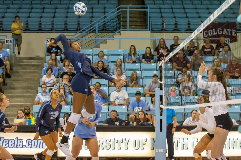 UNC volleyball storms back in fifth set to defeat NC State