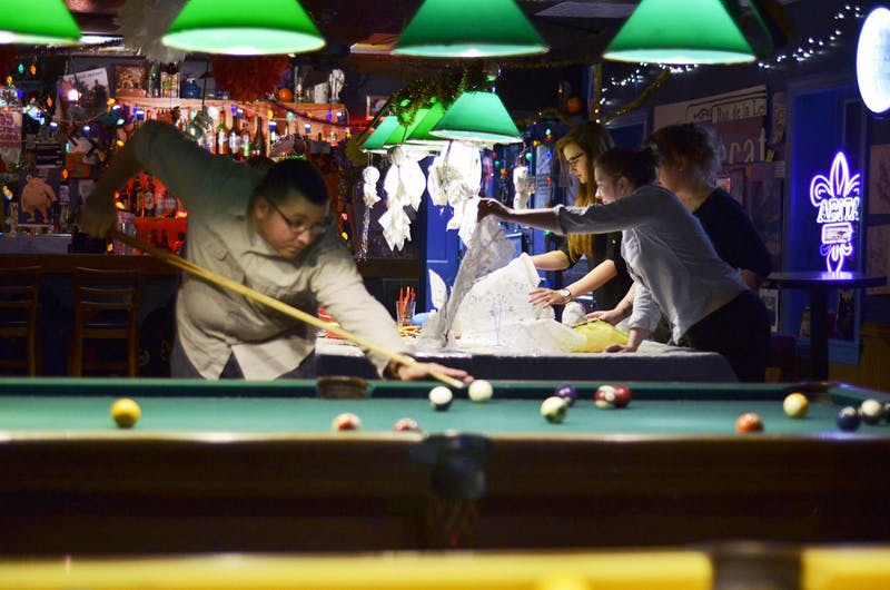 "Bars that apply to be ""private clubs"" do not have to get sanitation inspections. Zog's Art Bar and Pool Hall is a private club on Henderson Street."