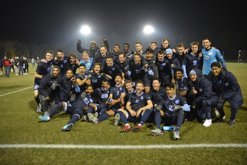 UNC Men's Soccer defeated Fordham University, 2-1 on Saturday night, to advance to the Final Four of the NCAA tournament.