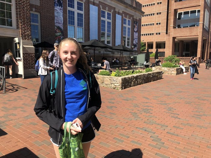 First-year environmental studies major, Claire Bradley, said climate change poses a big threat to humanity, and she joined Sunrise to make a difference.