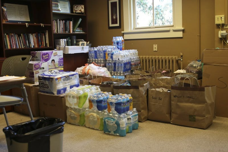 Abernethy Hall is collecting supplies for Hurricane Matthew relief efforts