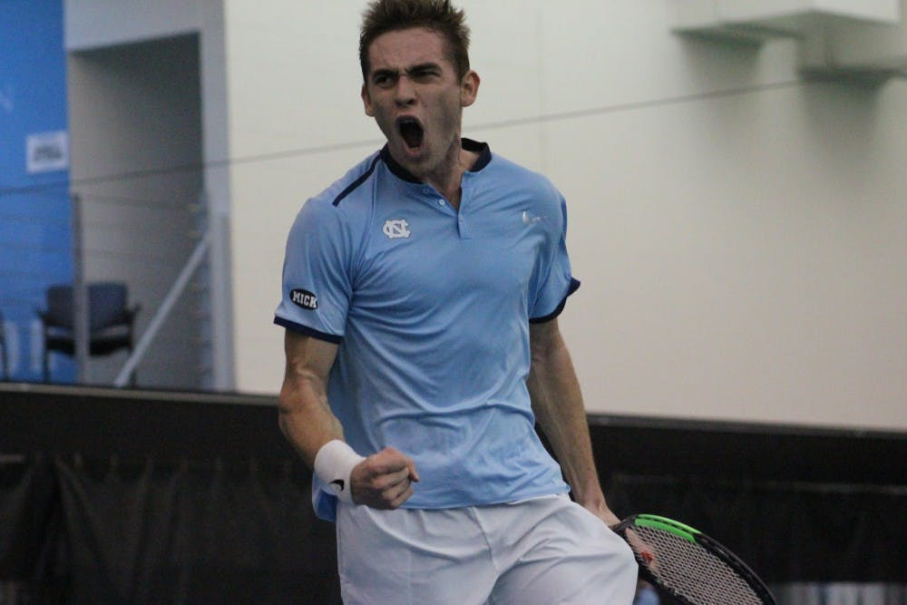 North Carolina men's tennis uses leadership to edge past TCU, 4-3