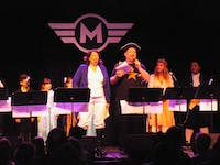 The Hamiltunes Sing-Along cast performed at Motorco Music Hall Sunday.