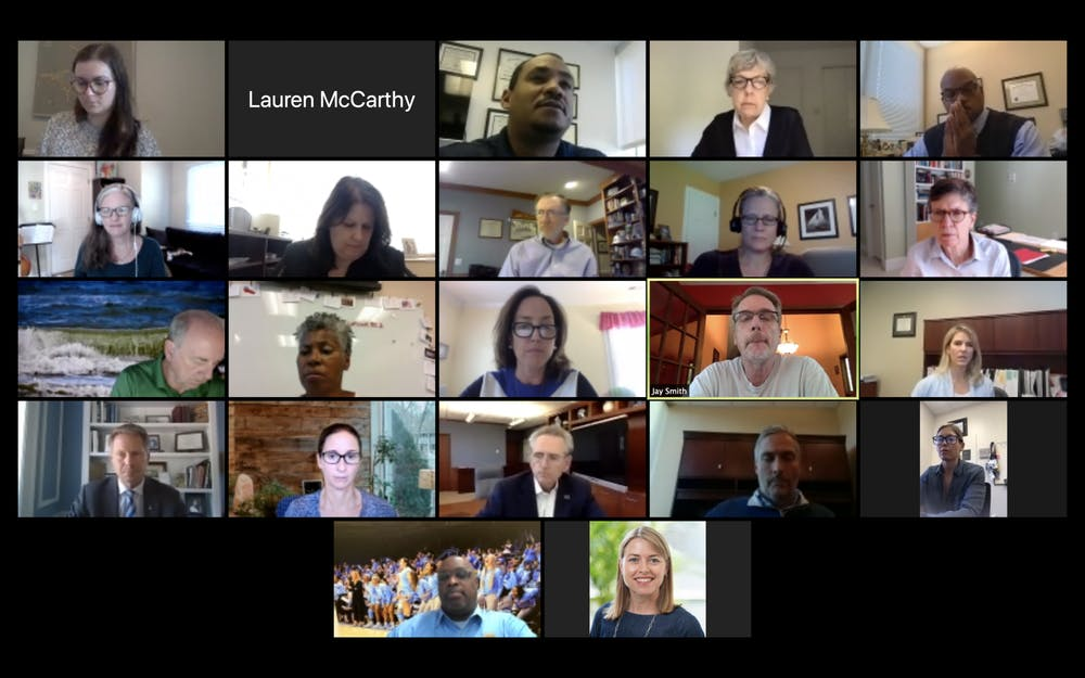 <p>The UNC Faculty Athletics Committee meets over Zoom on Thursday, Oct. 1, 2020.</p>