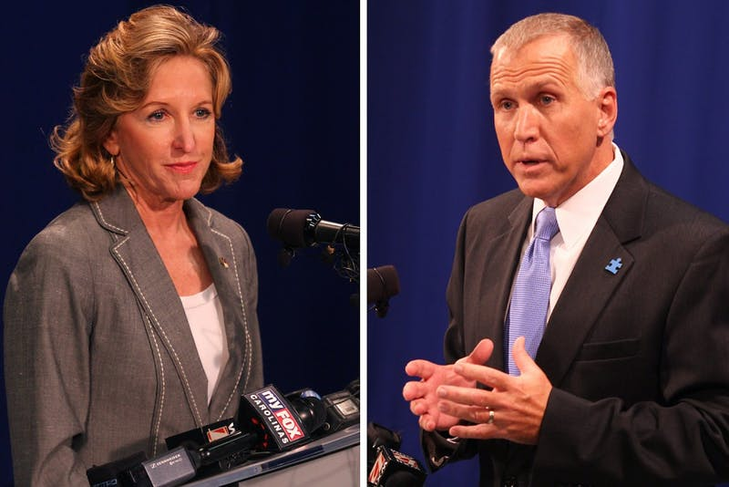 Sen. Kay Hagan, D-N.C.and Thom Tillis had their first debate for the race for U.S. Senate on Wednesday.
