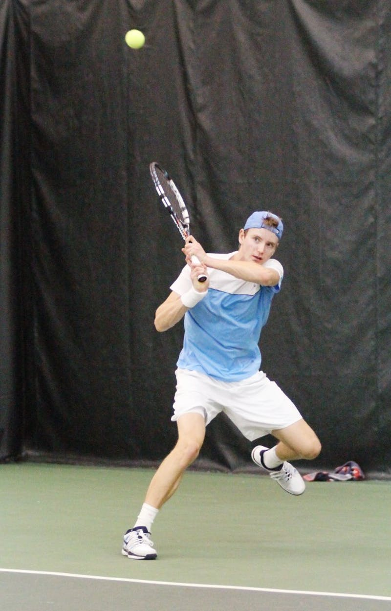 Men's tennis against Ohio St. Nelson Vick, singles match