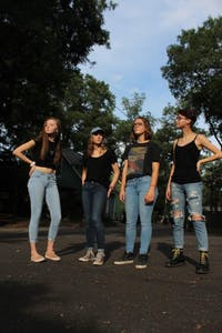 Sophie Feierman, Sophie Lowry, Kaitlyn Pedde, Casey Cheatham, members of Alley Seventeen, winner of Battle of the Bands in 2018. Photo courtesy of Alley Seventeen