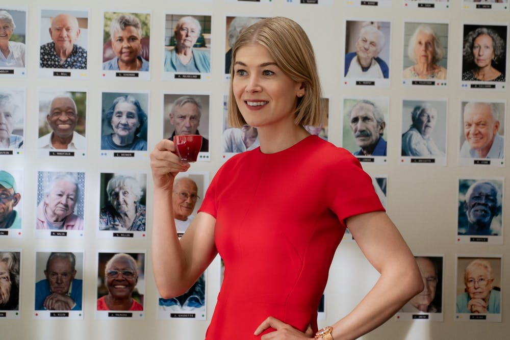"""Rosamund Pike in a scene from """"I Care A Lot."""" Photo courtesy of Seacia Pavao/Netflix."""