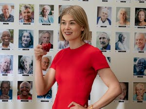 "Rosamund Pike in a scene from ""I Care A Lot."" Photo courtesy of Seacia Pavao/Netflix."
