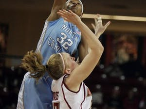 Rashanda McCants led UNC with 19 points and also pulled down eight rebounds in the team?s first road ACC win in its last four tries.
