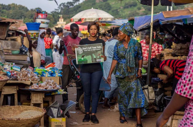 """The work of nine Nigerian artists will be featured in a John and June Alcott Gallery photography exhibit. Photo by Obasola Bamigbola, """"People With Voices,"""" 2018."""