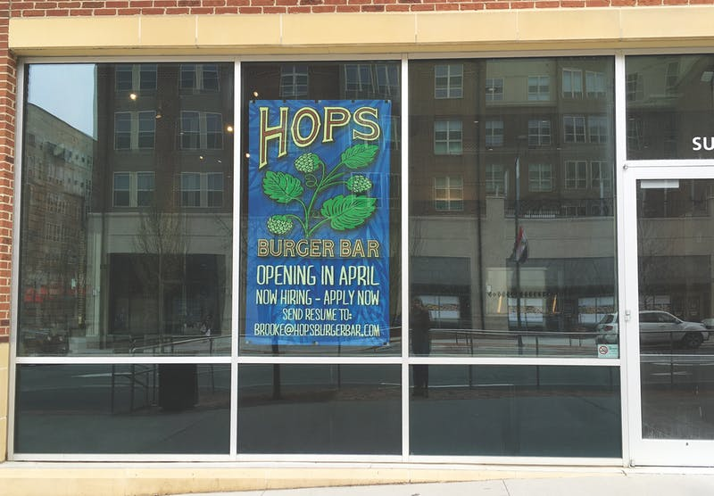 Hops Burger Bar will open next month.