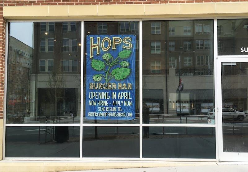 Hops Burger Bar will open next month.