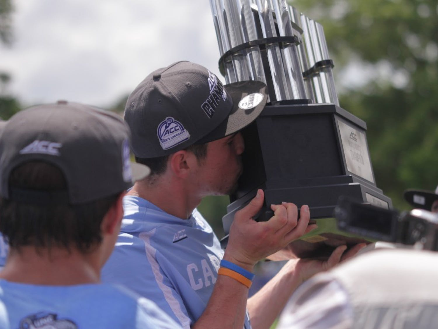 With a 14-10 win over Notre Dame on Sunday afternoon to win the ACC Championship, UNC collected the program's ninth conference championship. It was one of three conference championships UNC won on Sunday.