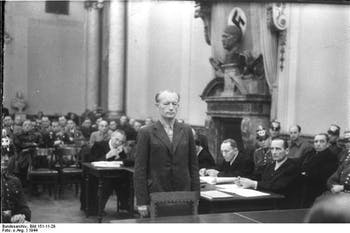 Trial of Adolf Reichwein in the People's Court of Nazi Germany, 1944. Photo courtesy of Eric Muller.