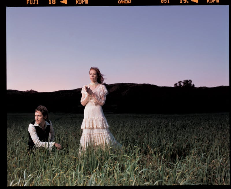 Songwriter Gillian Welch performed in Hill Hall on Tuesday after she received the Thomas Wolfe Prize. Photo by Mark Seliger.