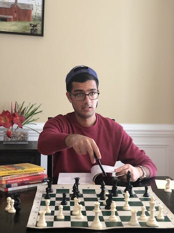 Priyav Chandna, a UNC student, is the the founder of an online chess academy. Photo courtesy of Priyav Chandna.