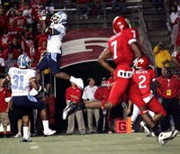 North Carolina cornerback Kendric Burney (16) was one of the four different Tar Heels to grab interceptions against Rutgers on Thursday.
