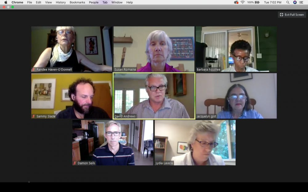 <p>The Carrboro Town Council met on Tuesday, Aug. 18, 2020 to discuss growing concerns about COVID-19 after amid UNC's growing case numbers. UNC reported 135 new cases among students and employees the day before the meeting.</p>
