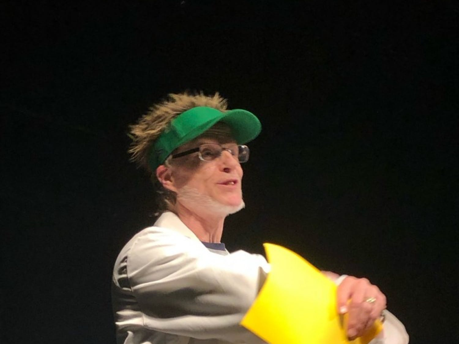 An actor performs at No Shame Theatre. Photo courtesy of Lisa Levin.