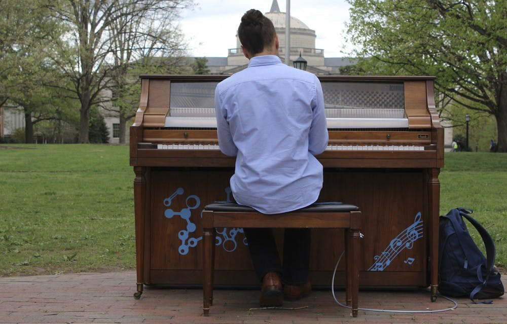 Pendulums, pianos and puppets fill campus for Arts Everywhere Day