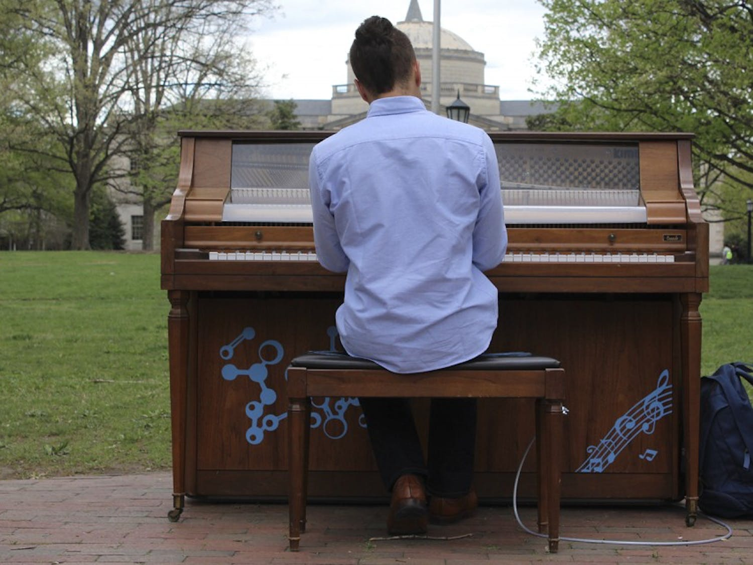 Arts Everywhere Day is hoping to have the arts represented all over campus with pianos, puppets and a Physics and Math Department sponsored pendulum.