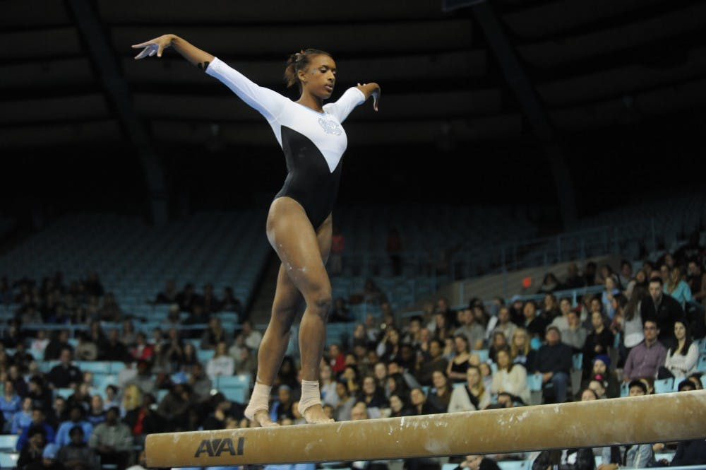 Friday night's meet was about taking a stand for UNC gymnastics