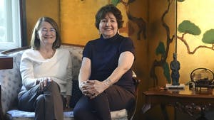 Sisters Marjorie Spruill (left) and Carol Spruill attended UNC during the early 1970s, becoming campus reformers as vocal feminists and anti-Vietnam War activists. Marjorie Spruill recently returned home to North Carolina, visiting her sister in Raleigh for a weekend.